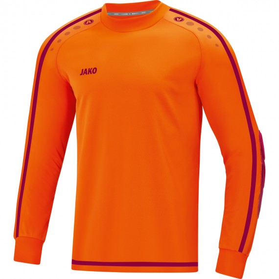 8905-19 Keepershirt Striker 2.0 fluo oranje/wijnrood