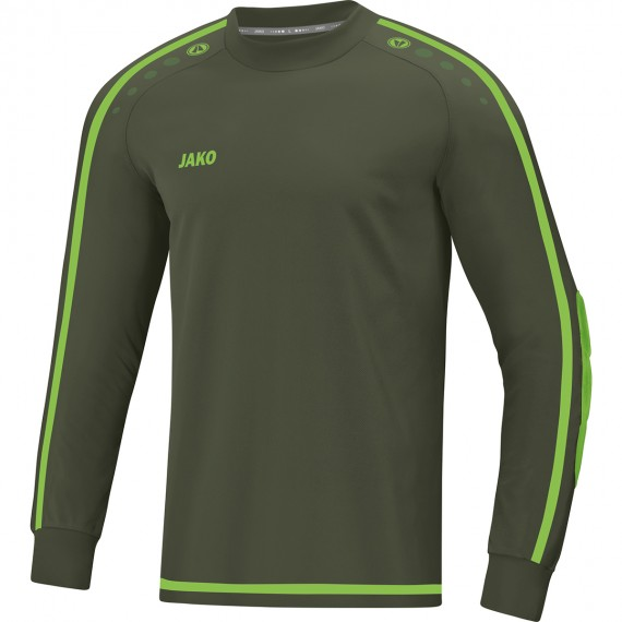 8905-28 Keepershirt Striker 2.0 kaki/fluogroen